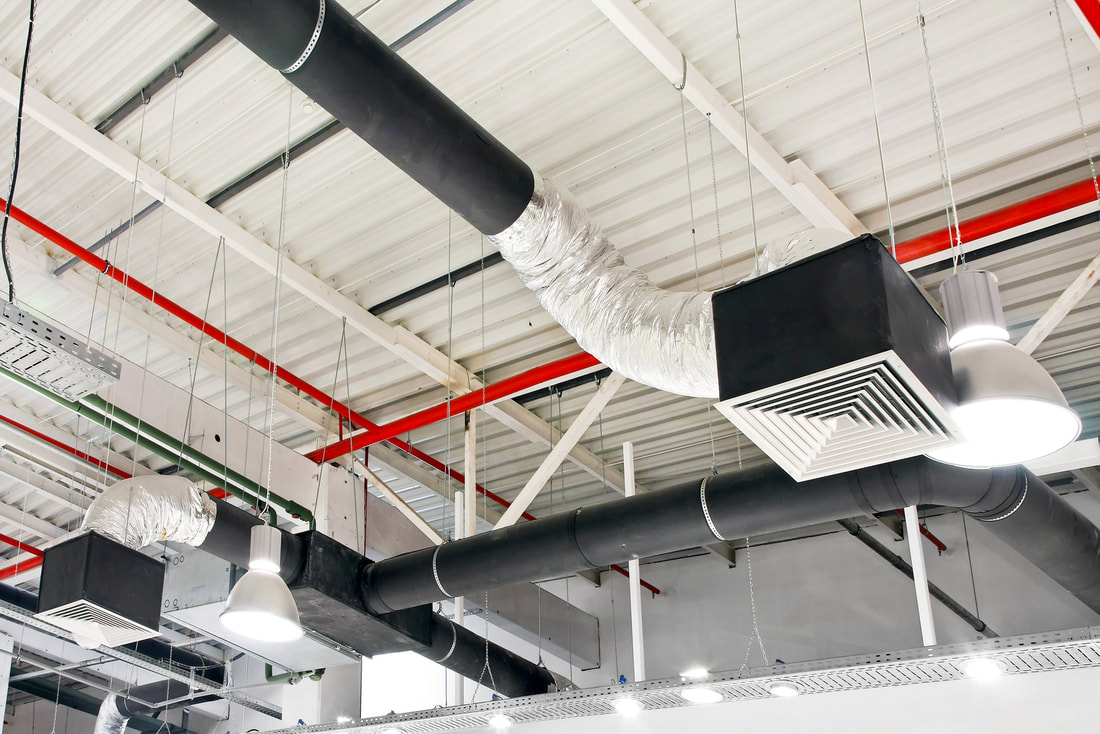 air duct of the commercial